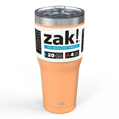 Zak! Designs 30oz Double Wall Stainless Steel Tumbler - Cantaloupe