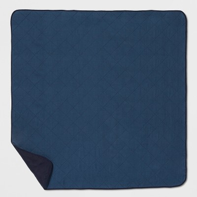 Blue Solid Picnic Blanket - Threshold™
