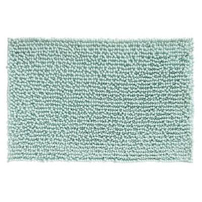 mDesign Soft Microfiber Polyester Non-Slip Rectangular Spa Mat/Rug - Light Blue