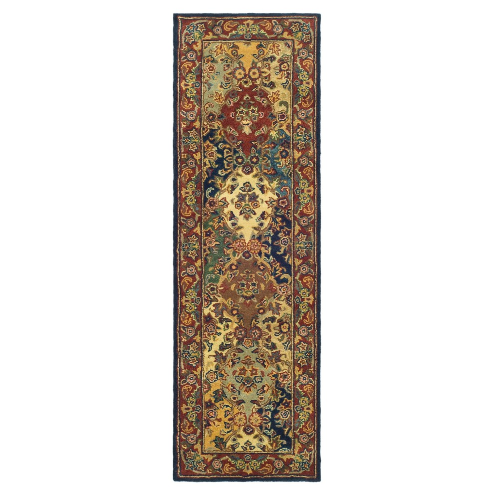 Floral Tufted Runner 2'3X22' - Safavieh, Multi/Red