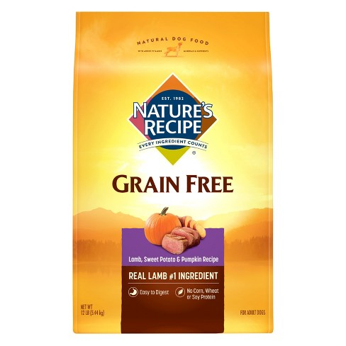 Nature's Recipe Grain Free Lamb Sweet Potato & Pumpkin Dry Dog Food - 12lb - image 1 of 1