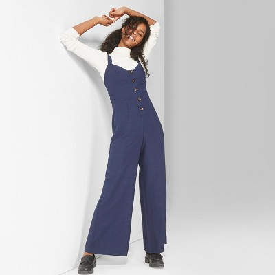 c839a46a69 Women s Strappy Button Front Tie Back Jumpsuit - Wild Fable™