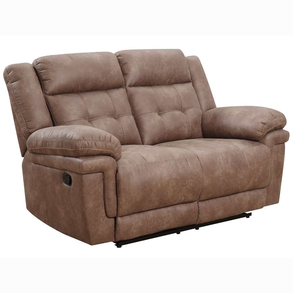 Anastasia Recliner Loveseat Cocoa (Brown) - Steve Silver
