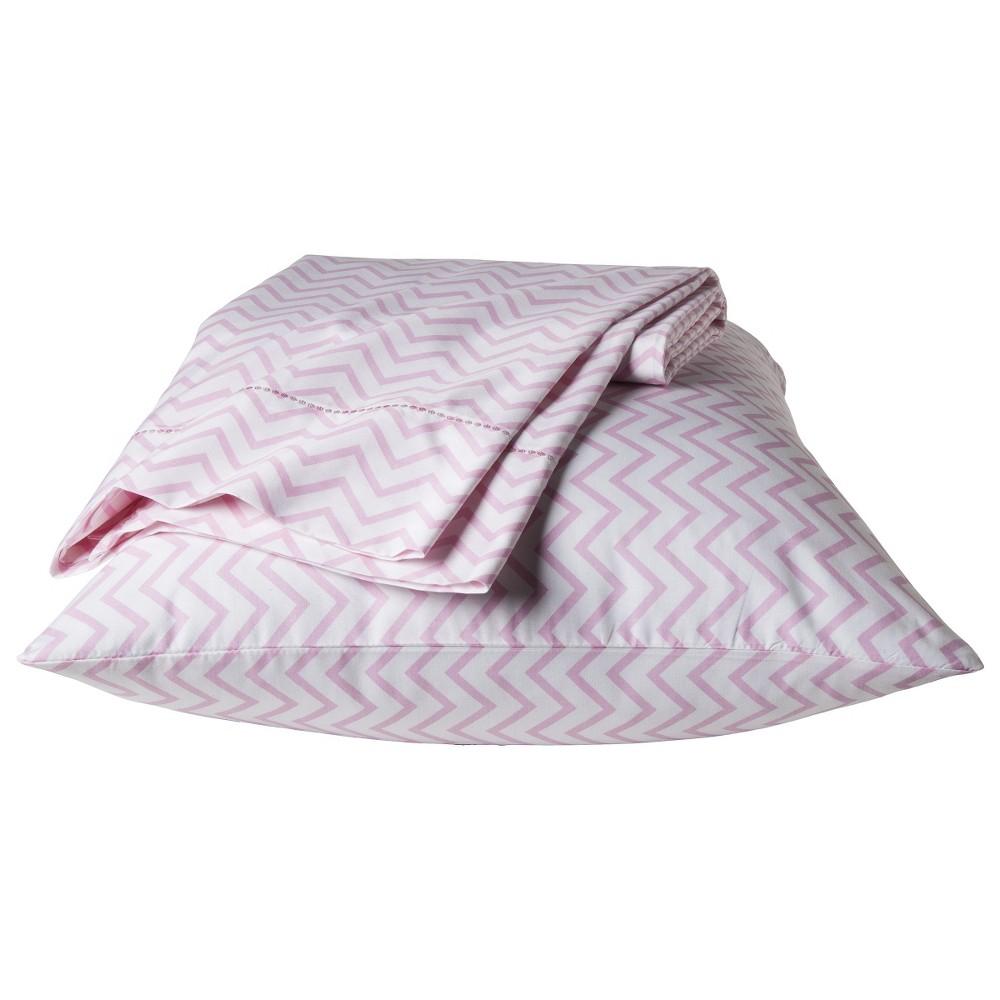 Chevron Sheet Set (Twin) Pink 3 pc - Pillowfort
