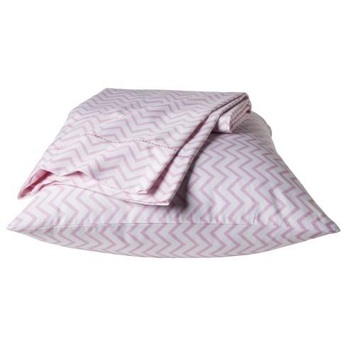 Chevron Sheet Set (Queen) Pink 4pc - Pillowfort™ - image 1 of 1