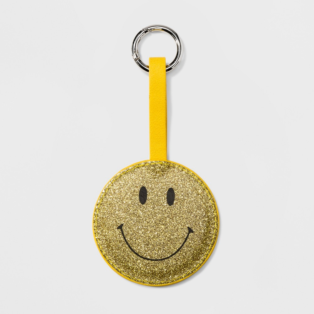 Women's Smiley Face Mirror Keychain - Wild Fable Yellow