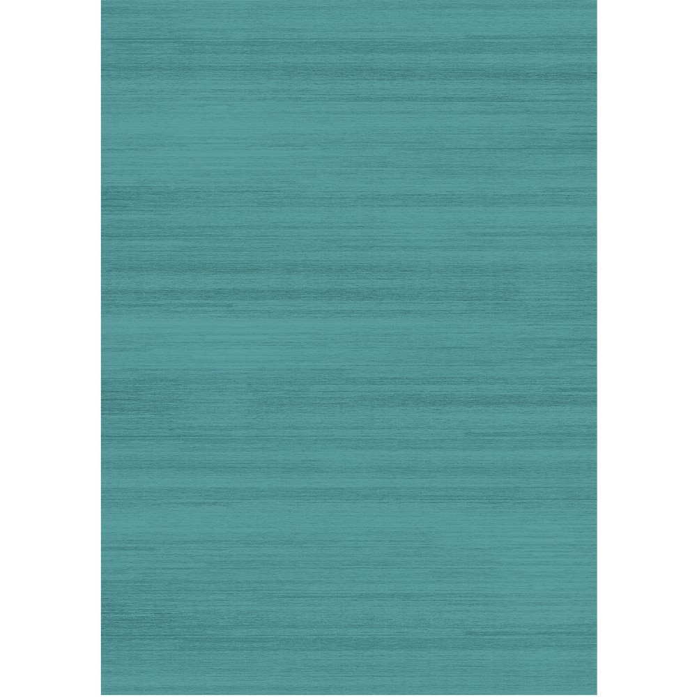 Blue Solid Woven Area Rug 5'X7' - Ruggable