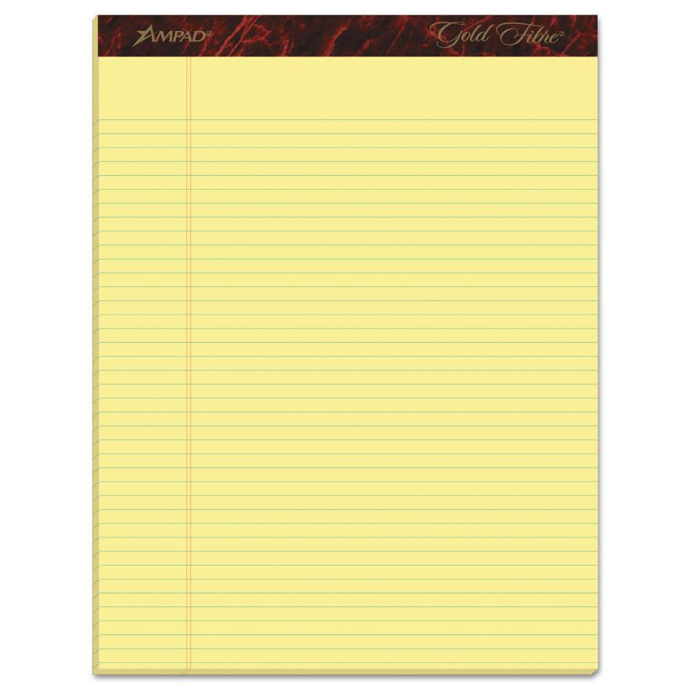 Image of Ampad 12pk Legal Pads Narrow Rule 8.5 x 11.75 Gold, Yellow