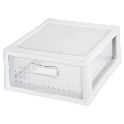Sterilite Storage Shallow Modular Drawers White