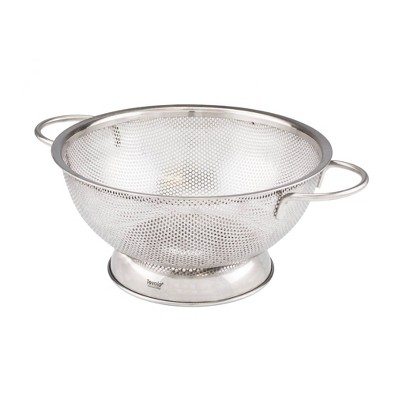Tovolo 2qt Stainless Steel Perforated Colander Medium Silver