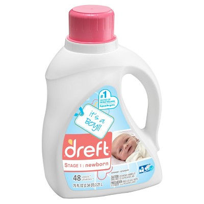 Dreft Stage 1: Newborn Liquid Laundry Detergent (HEC)- It's a Boy/Girl! 75oz/48 loads