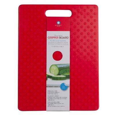 """Architec Our Original Gripper Cutting Board 11""""x14"""" Red"""