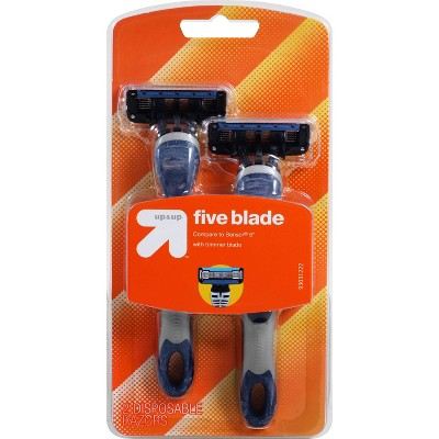 Men's Five Blade Disposable - 2ct - up & up™