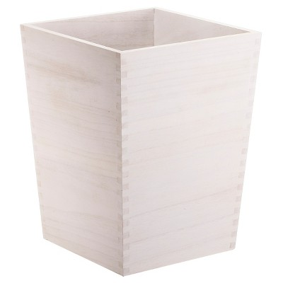 Square Trash Can White Wood - Threshold™