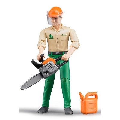 Bruder bworld Logging Man / Forestry Worker with Accessories 60030