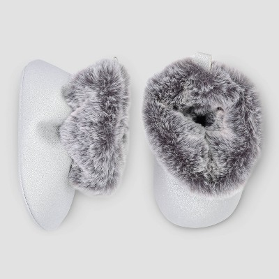 Baby Girls' Faux Fur Crib Boots - Just One You® made by carter's Velvet 3-6M