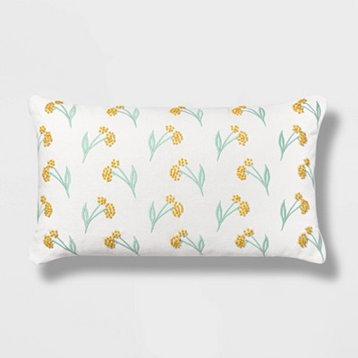 Oversized Lumbar Embroidered Floral Pillow - Opalhouse™