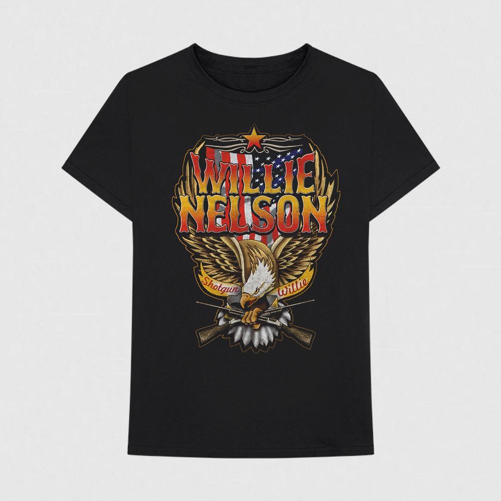 Men's Willie Nelson Short Sleeve T-Shirt - Black XL