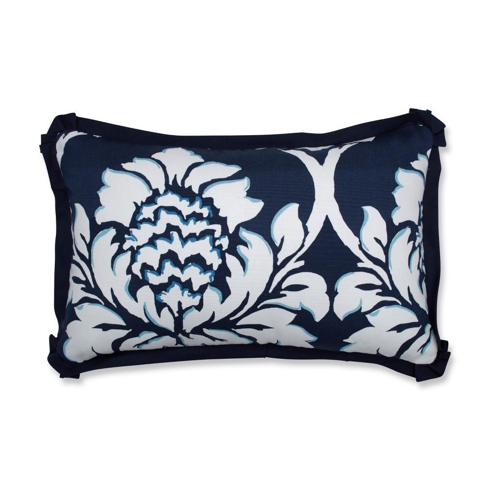 """Image of """"Palm Gardens Lumbar Throw Pillow Blue - Pillow Perfect, Size: 18.5""""""""x11.5"""""""""""""""
