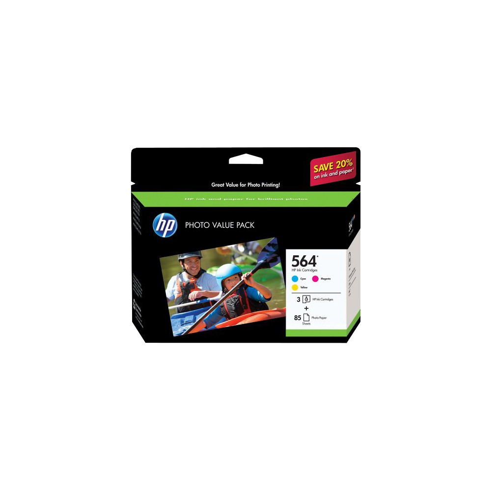 HP 564 Photosmart C/M/Y 3pk Ink Cartridge - (CG925AN#140) Promos