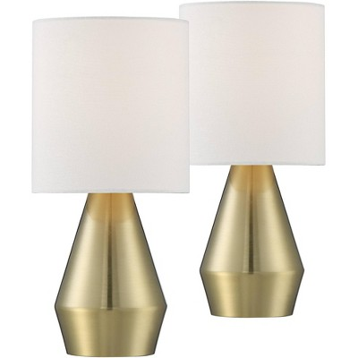 """360 Lighting Marty 14 3/4"""" High Brass Accent Table Lamps Set of 2"""