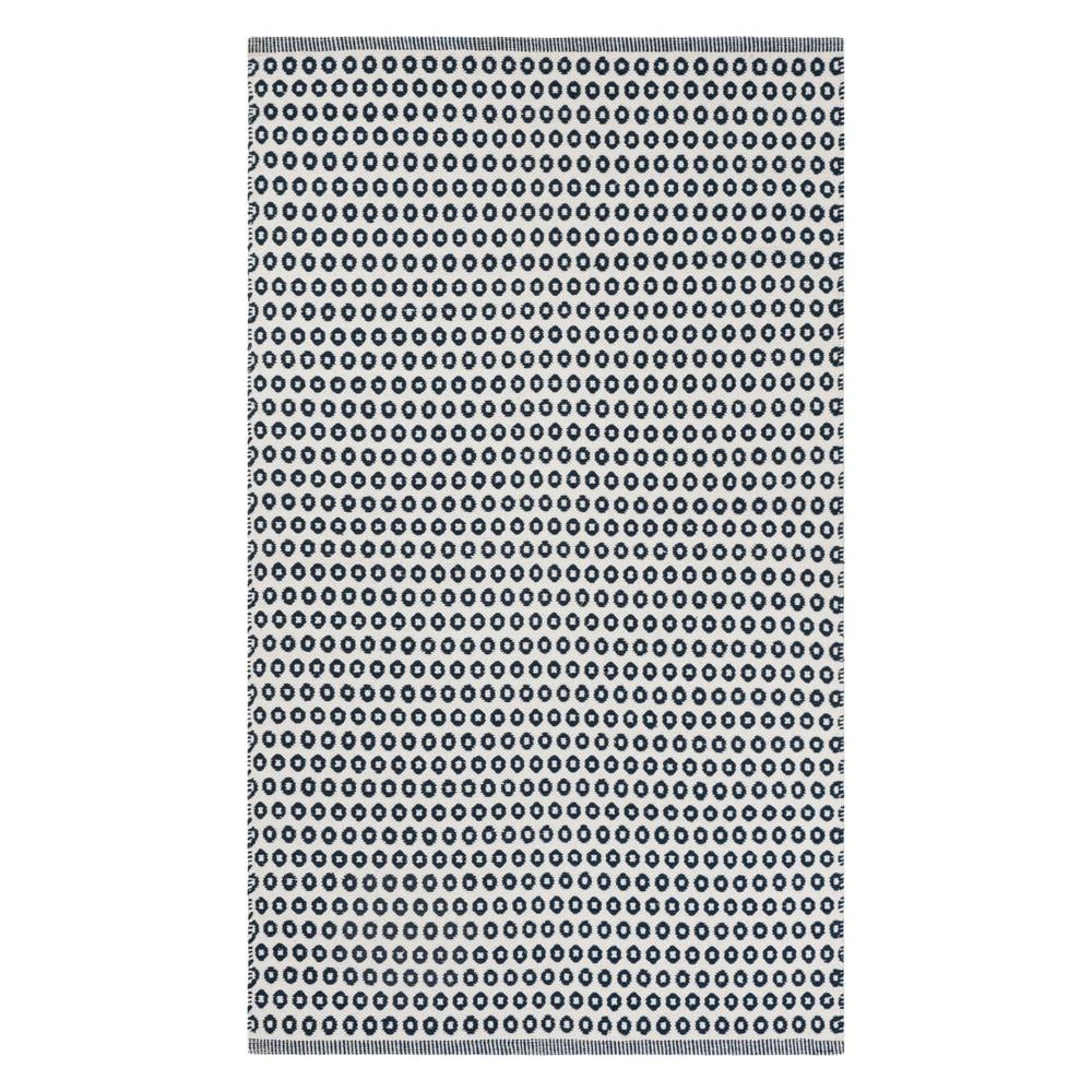 3X5 Geometric Woven Accent Rug Blue/Ivory - Safavieh Buy