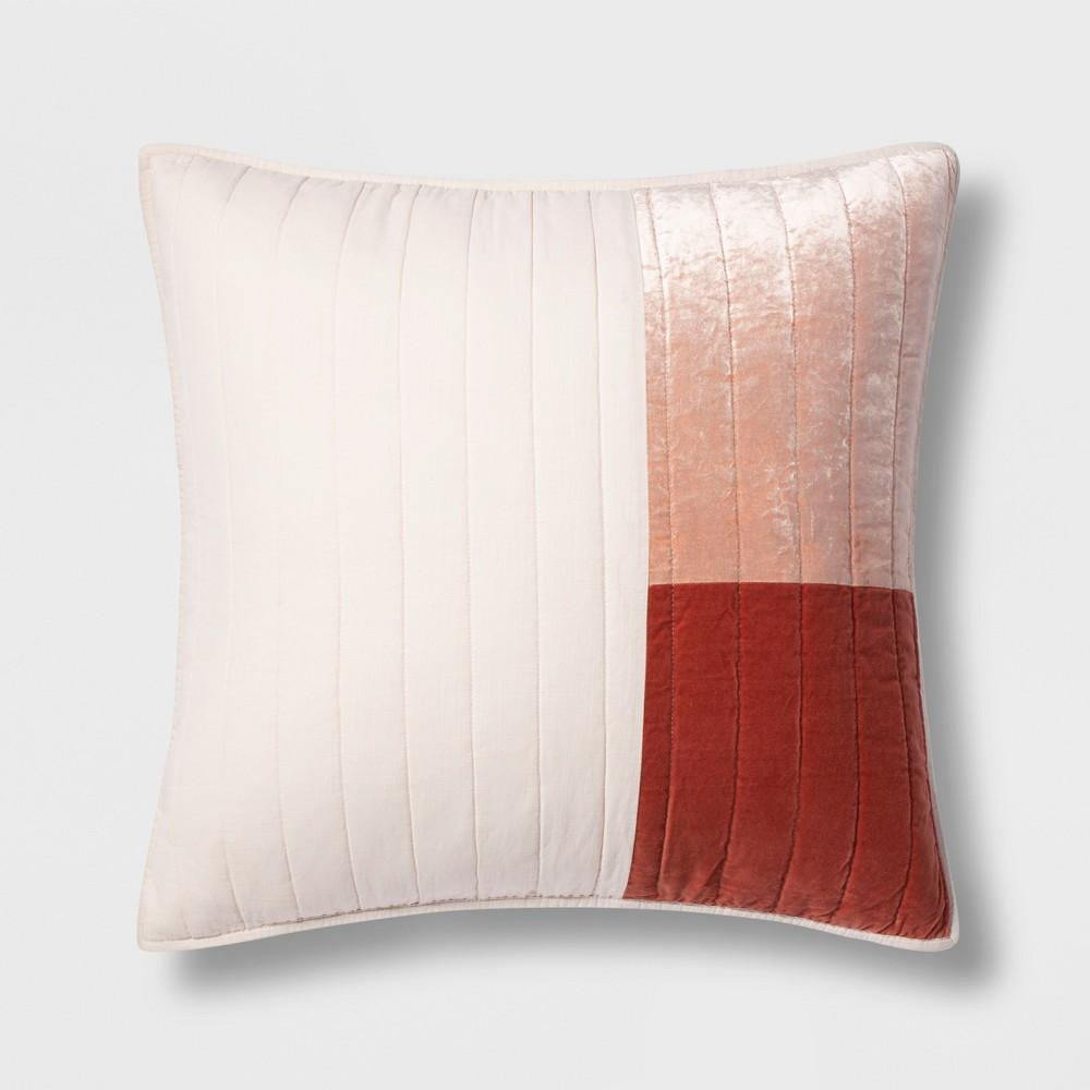 King Patchwork Velvet Quilt Coral - Project 62, Orange