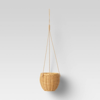 "8"" x 33"" Rattan Hanging Woven Planter Natural - Opalhouse™"