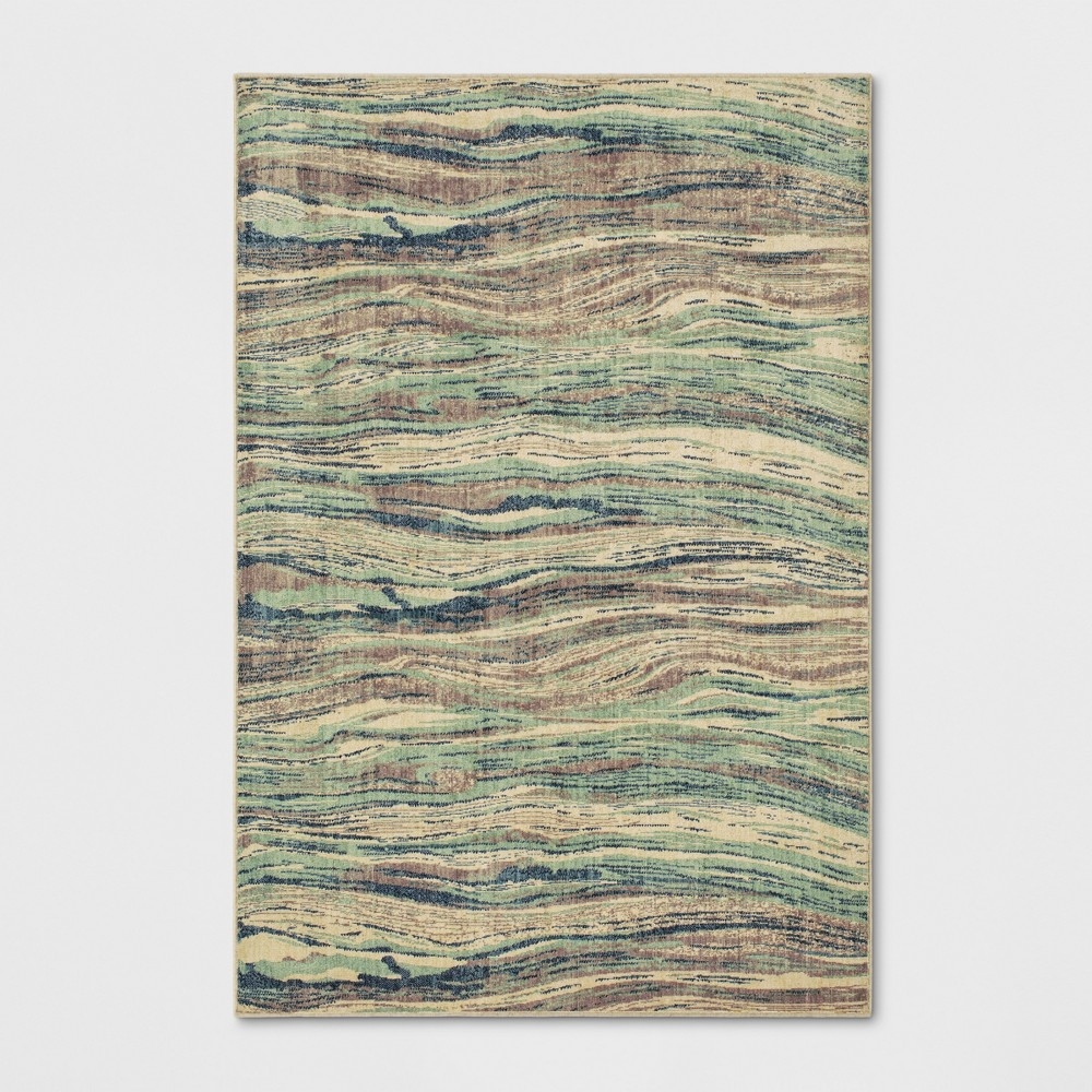 7'X10' Woven Marble Area Rug Aqua (Blue) - Project 62