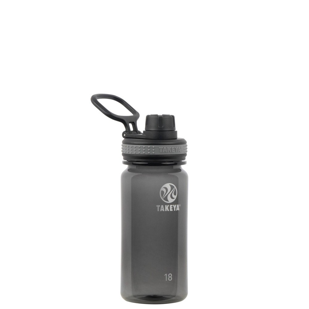 Takeya 18oz Tritan Water Bottle With Spout Lid Black