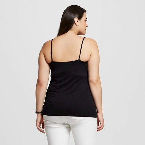 9a77c4f446d Women s Plus Size Cami - Ava   Viv™ - Black 4X   Target