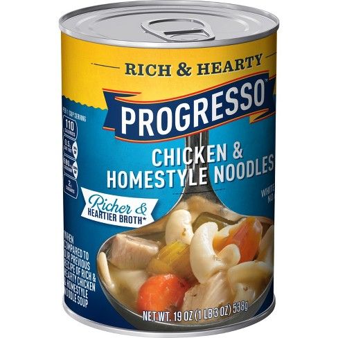 Progresso Rich & Hearty Chicken & Homestyle Noodle Soup 19 oz - image 1 of 3