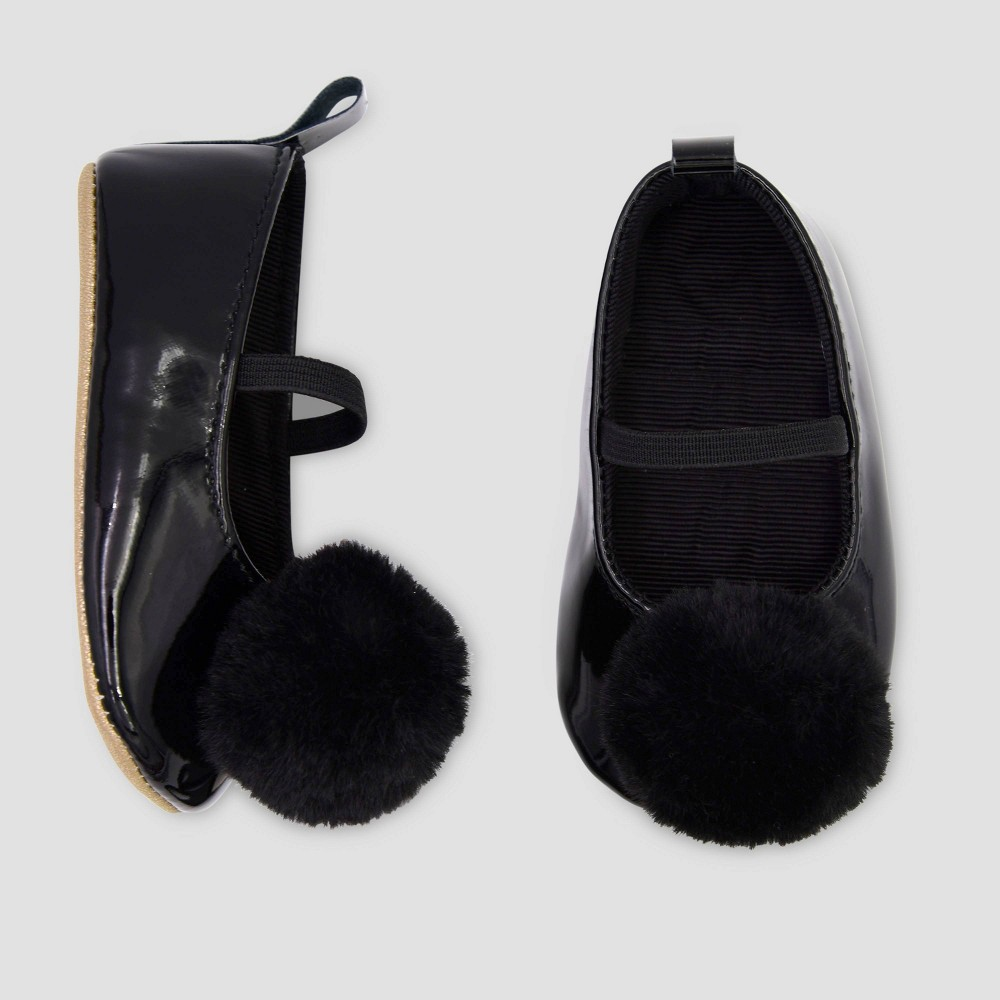 Image of Baby Girls' Faux Fur Mary Jane Shoes - Just One You made by carter's Black 0-3M, Girl's