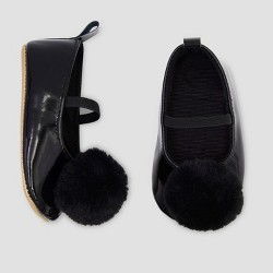 Baby Girls' Faux Fur Mary Jane Shoes - Just One You® made by carter's Black