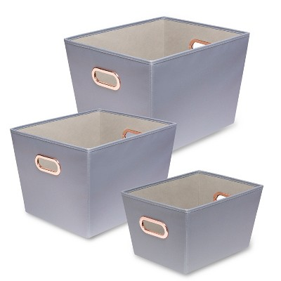 Honey-Can-Do Decorative Organizing Totes Gray