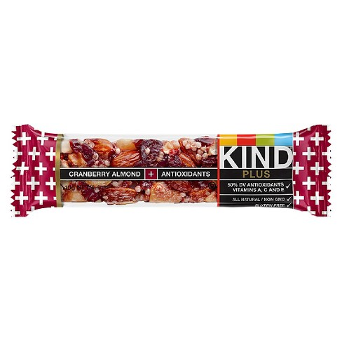 KIND Plus Cranberry Almond + Antioxidants with Macadamia Nuts Nutrition Bar 1.4 oz - image 1 of 1