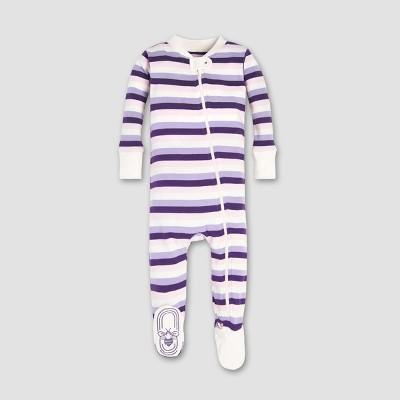 Burt's Bees Baby® Girls' Organic Cotton Multi Stripe Sleeper - Aubergine 0-3M