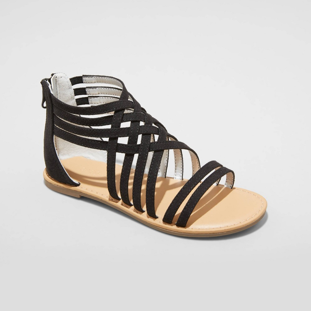 Girls 39 Vienna Gladiator Sandals Cat 38 Jack 8482 Black 4