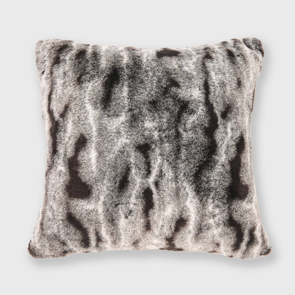 "Image of ""18""""x18"""" Rabbit Faux Fur Ombre Throw Pillow - Evergrace"""