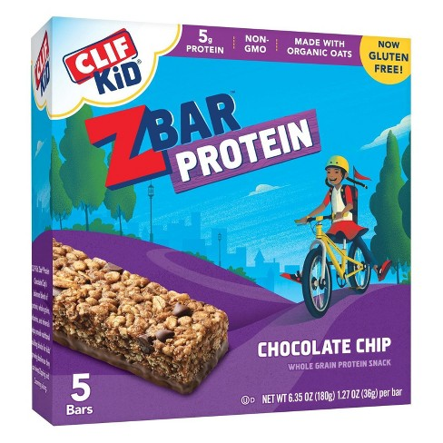 Clif Kid Zbar Chocolate Chip Protein Snack - 6.35oz - 5ct - image 1 of 3