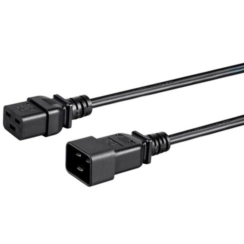 Monoprice 3 Prong Extension Cord - Black - 10 Feet |  IEC 60320 C19 to IEC 60320 C20, 16AWG, 13A - image 1 of 4