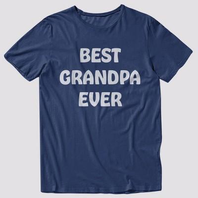 Men's 33 Revolutions 'Best Grandpa Ever' Short Sleeve Graphic T-Shirt - Navy S