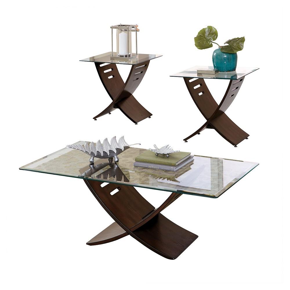 Collette Occasional Table Set - Dark Oak (Brown) - Steve Silver