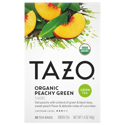 Tazo Organic Peachy Green Tea - 20ct