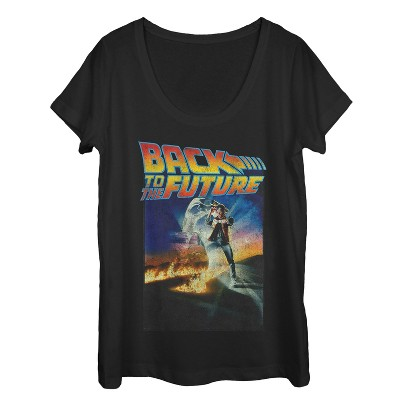 Women's Back to the Future Retro Marty McFly Poster Scoop Neck