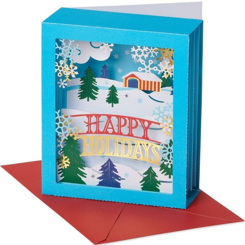 Christmas Greeting.Happy Holidays Pop Up Christmas Greeting Card