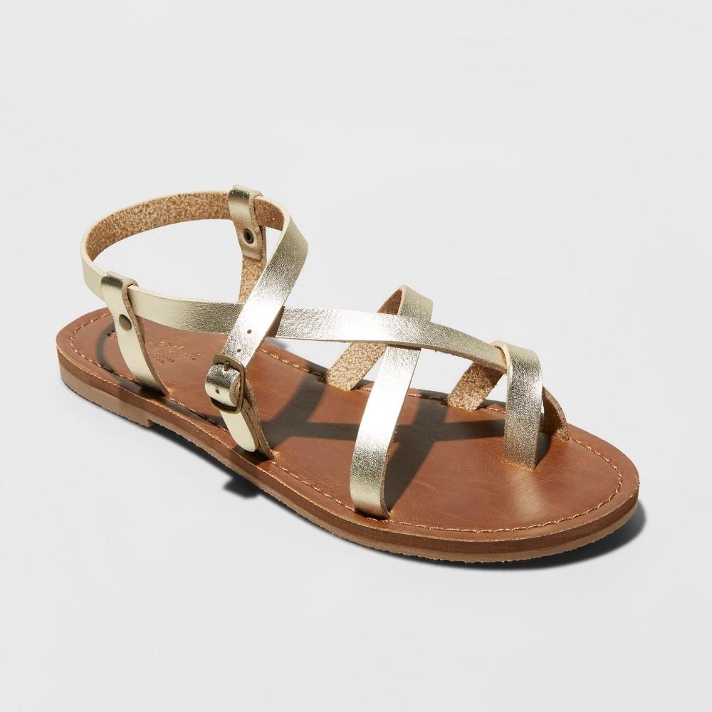 Women's Lavinia Toe Wrap Thong Sandal - Universal Thread Gold 12