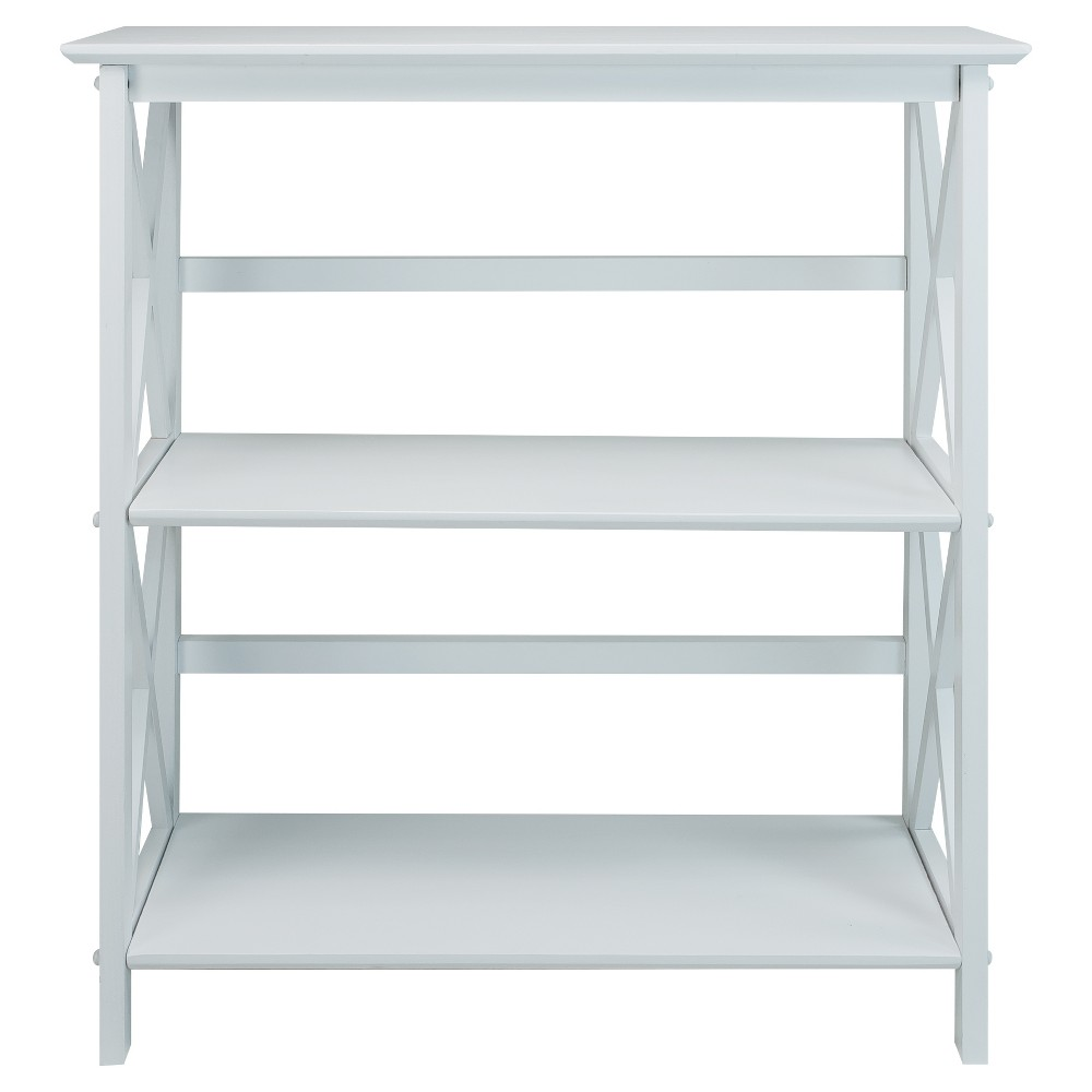 "Image of ""34"""" 3-Shelf Bookcase White - Flora Home"""