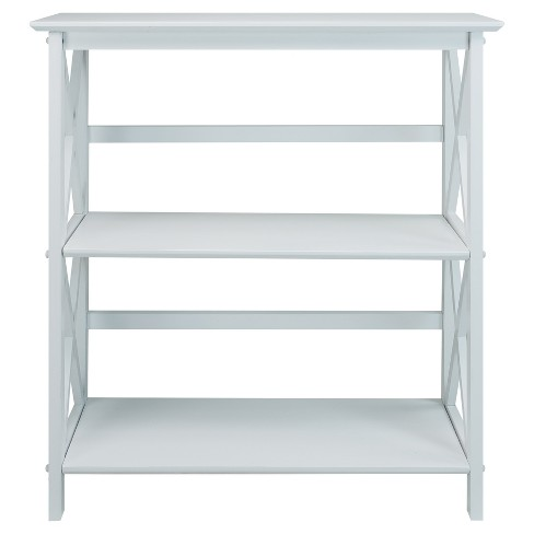 34 3 Shelf Bookcase White