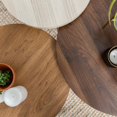 Set Of 3 Round Nesting Coffee Tables - Saracina Home : Target